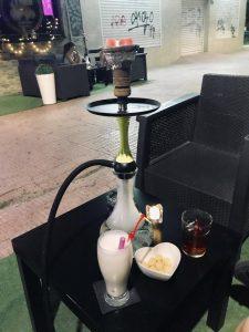 Cachimba y bebidas