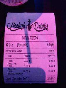 Ticket cuenta